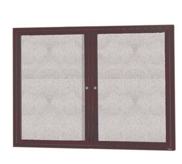 "Aarco Products ODCC3648RBA 2-Door Outdoor Enclosed Bulletin Board with Bronze Anodized Aluminum Frame, 36""H x 48""W"