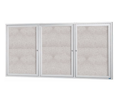 "Aarco Products ODCC3672-3R 3-Door Outdoor Aluminum Frame Enclosed Bulletin Board, 36""H x 72""W"