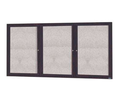 """Aarco Products ODCC3672-3RBA 3-Door Outdoor Enclosed Bulletin Board with Bronze Anodized Aluminum Frame, 36""""H x 72""""W"""