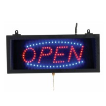 "Aarco Products OPE02S High Visibility LED OPEN Sign, 6 3/4""H x 16 1/8""W"