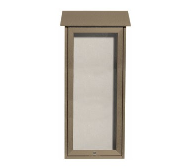 Aarco Products OPLD3416-8 Weathered Wood Slimline Series Top Hinged