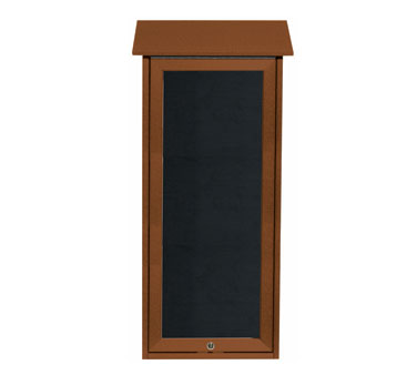 """Aarco Products OPLD3416L-5 Cedar Slimline Series Top Hinged Single Door Plastic Lumber Message Center with Letter Board 34"""" x 16"""""""