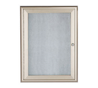 "Aarco Products OWFC2418 Enclosed Bulletin Board with Aluminum Waterfall Style Silver Frame-24""H x 18""W"