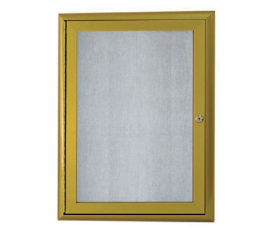 """Aarco Products OWFC2418LB Enclosed Bulletin Board with Aluminum Waterfall Style Antique Brass Frame, 24""""H x 18""""W"""
