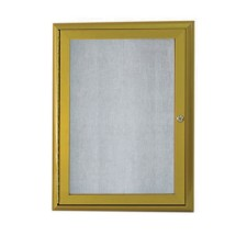 "Aarco Products OWFC2418LB Enclosed Bulletin Board with Aluminum Waterfall Style Antique Brass Frame, 24""H x 18""W"