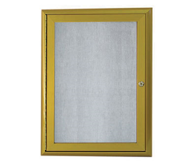 aarco products owfc2418lb enclosed bulletin board with aluminum waterfall style antique brass frame 24h x 18w