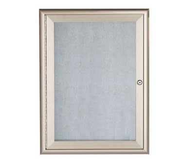 """Aarco Products OWFC3624 Enclosed Bulletin Board with Aluminum Waterfall Style Silver Frame, 36""""H x 24""""W"""