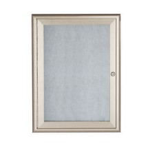 "Aarco Products OWFC3624 Enclosed Bulletin Board with Aluminum Waterfall Style Silver Frame, 36""H x 24""W"