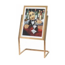 Aarco Products P-15B Menu and Poster Holder - Brass