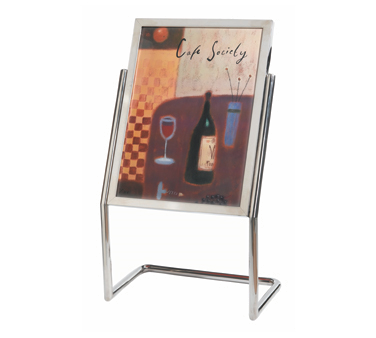 Aarco Products P-15C Menu and Poster Holder - Chrome