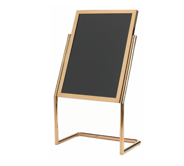 Aarco Products P-17B Dual Capability Neon Marker Board and Poster Holder - Brass