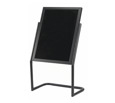 Aarco Products P-17BK Dual Capability Neon Marker board and Poster Holder - Black