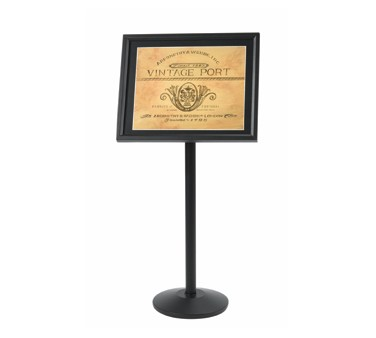 Aarco Products P-5BK Single Pedestal Broadcaster Stand - Black