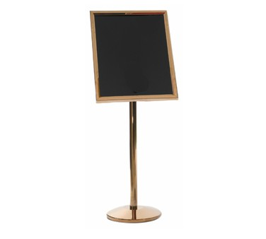 Aarco Products P-7B Small Dual Capability Neon Markerboard and Menu-Poster Holder - Brass