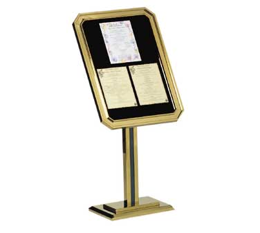 Aarco Products P31-B Single Pedestal-Ornamental Sign and Poster Stand - Brass