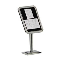 Aarco Products P31-C Single Pedestal-Ornamental Sign and Poster Stand - Chrome