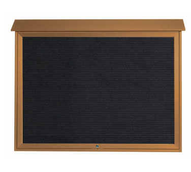 "Aarco Products PLD4052TL-5 Cedar Top Hinged Single Door Plastic Lumber Message Center with Letter Board 40"" x 52"""