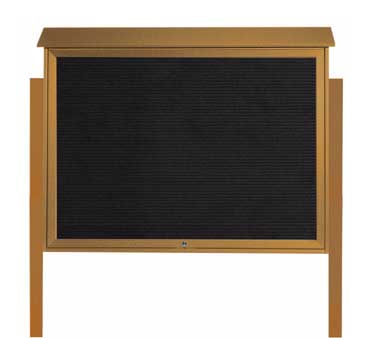 "Aarco Products PLD4052TLDPP-5 Cedar Top Hinged Single Door Plastic Lumber Message Center with Letter Board- Posts Included, 40"" x 52"""