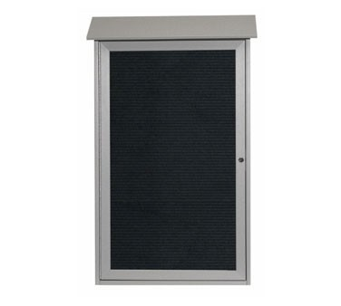 """Aarco Products PLD4226L-2 Light Grey Single Hinged Door Plastic Lumber Message Center with Letter Board 42"""" x 26"""""""