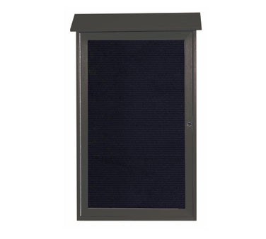 """Aarco Products PLD4226L-4 Green Single Hinged Door Plastic Lumber Message Center with Letter Board 42"""" x 26"""""""