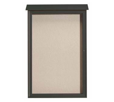 """Aarco Products PLD5438-4 Green Single Hinged Door Plastic Lumber Message Center with Vinyl Posting Surface 54"""" x 38"""""""