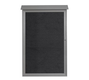"""Aarco Products PLD5438L-2 Light Grey Single Hinged Door Plastic Lumber Message Center with Letter Board 54"""" x 38"""""""