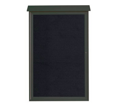 """Aarco Products PLD5438L-4 Green Single Hinged Door Plastic Lumber Message Center with Letter Board 54"""" x 38"""""""