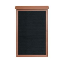"""Aarco Products PLD5438L-5 Cedar Single Hinged Door Plastic Lumber Message Center with Letter Board 54"""" x 38"""""""