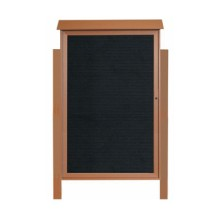 """Aarco Products PLD5438LDPP-5 Cedar Single Hinged Door Plastic Lumber Message Center with Letter Board - Posts Included, 54"""" x 38"""""""