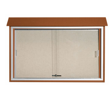 "Aarco Products PLDS3045-5 Cedar Sliding Door Plastic Lumber Message Center, 30"" x 45"""
