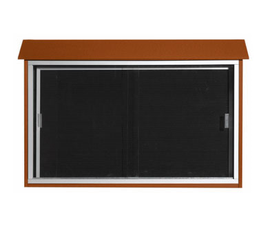 "Aarco Products PLDS3045L-5 Cedar Sliding Door Plastic Lumber Message Center with Letter Board 30"" x 45"""