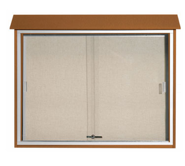 "Aarco Products PLDS3645-5 Cedar Sliding Door Plastic Lumber Message Center 36"" x 45"""