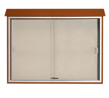 "Aarco Products PLDS4052-5 Cedar Sliding Door Plastic Lumber Message Center 40"" x 52"""