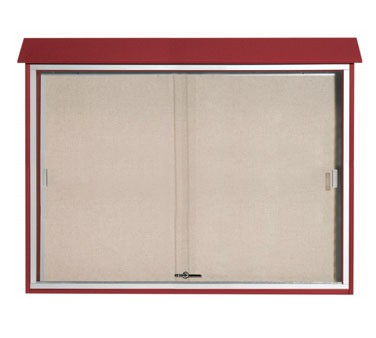 "Aarco Products PLDS4052-7 Rosewood Sliding Door Plastic Lumber Message Center 40"" x 52"""