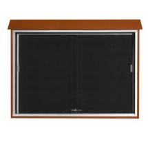 """Aarco Products PLDS4052L-5 Cedar Sliding Door Plastic Lumber Message Center with Letter Board 40"""" x 52"""""""