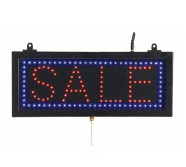 "Aarco Products SAL05S High Visibility LED SALE Sign , 6 3/4""H x 16 1/8""W"