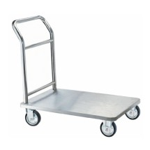 Aarco Products SB-1C Four Wheeled Bellman's Hand Truck- Chrome Finish
