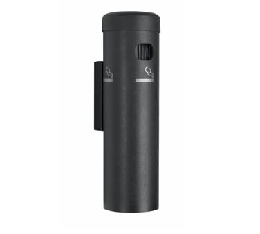 Aarco Products SB15W Wall Mounted Cigarette Receptacle - Black Finish