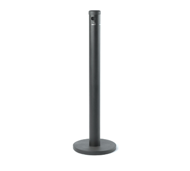 Aarco Products SB40F Floor Standing Cigarette Receptacle - Black Finish