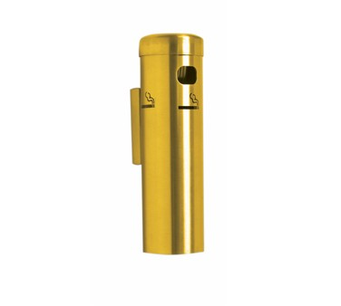 Aarco Products SC15W Wall Mounted Cigarette Receptacle -Gold Finish