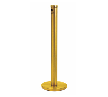 Aarco Products SC40F Floor Standing Cigarette Receptacle - Gold Finish