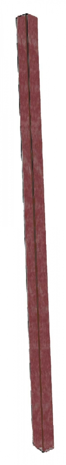 Aarco Products SPP-7 Rosewood Plastic Lumber Single Post