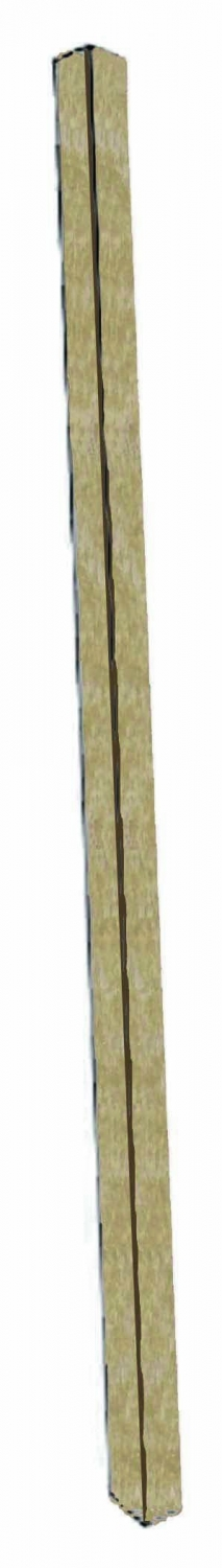 Aarco Products SPP-8 Weathered Wood Plastic Lumber Single Post