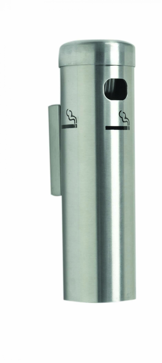 Aarco Products SS15W Wall Mounted Cigarette Receptacle - Satin Finish