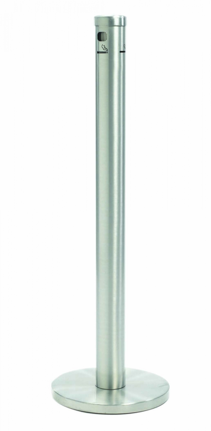 Aarco Products SS40F Floor Standing Cigarette Receptacle - Satin Finish