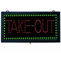 "Aarco Products TAK12M High Visibility LED TAKE-OUT Sign, 9 3/4""H x 18 3/4""W"