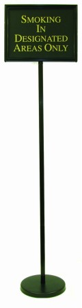 Aarco Products TI-1BK The Director Changeable Poster Sign, Black 59