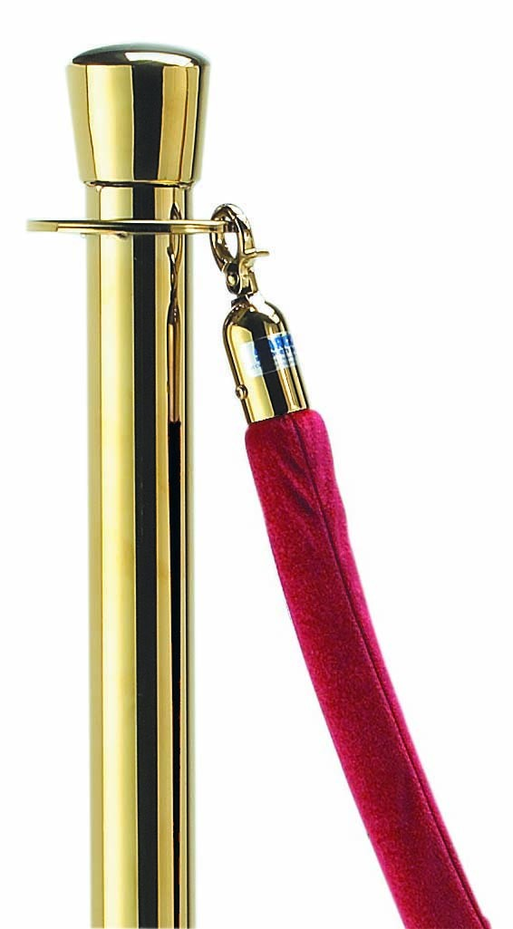 Aarco Products TR-4 5 Ft. Form-A-Line Red Rope with Brass Hardware