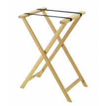 Aarco Products TS-1 Folding Wood Tray Stand - Light Stain