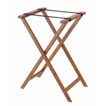 Aarco Products TS-2 Folding Wood Tray Stand - Medium Stain